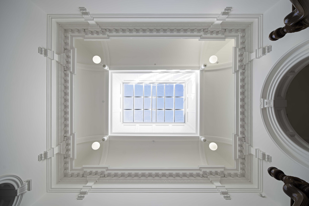 Atrium over the grand staircase Photo: Yerbury Press