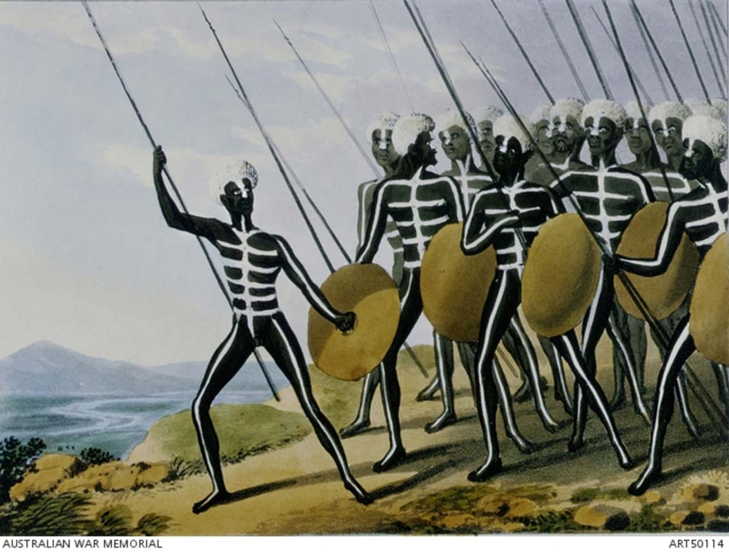 The full-sized Warriors of New South Wales, 1813, by John Heaviside Clark. Australian War Memorial