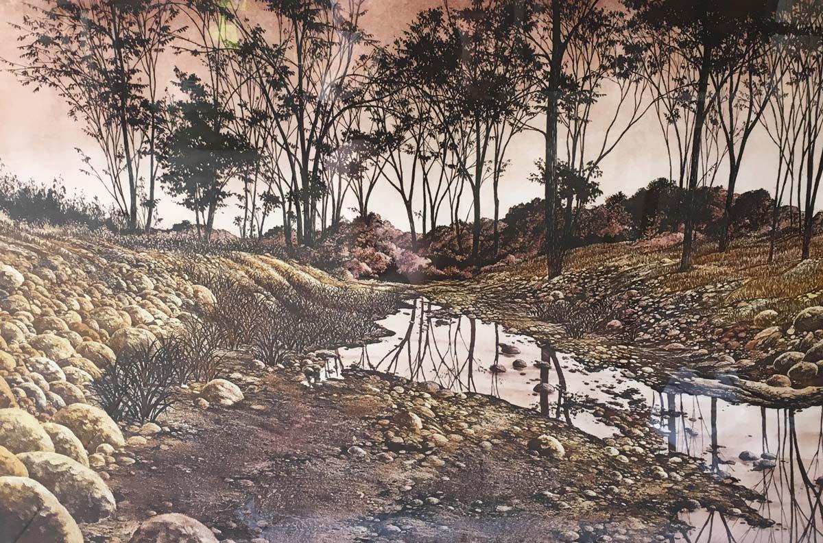 Dusk at Rockford by Donna Aldridge