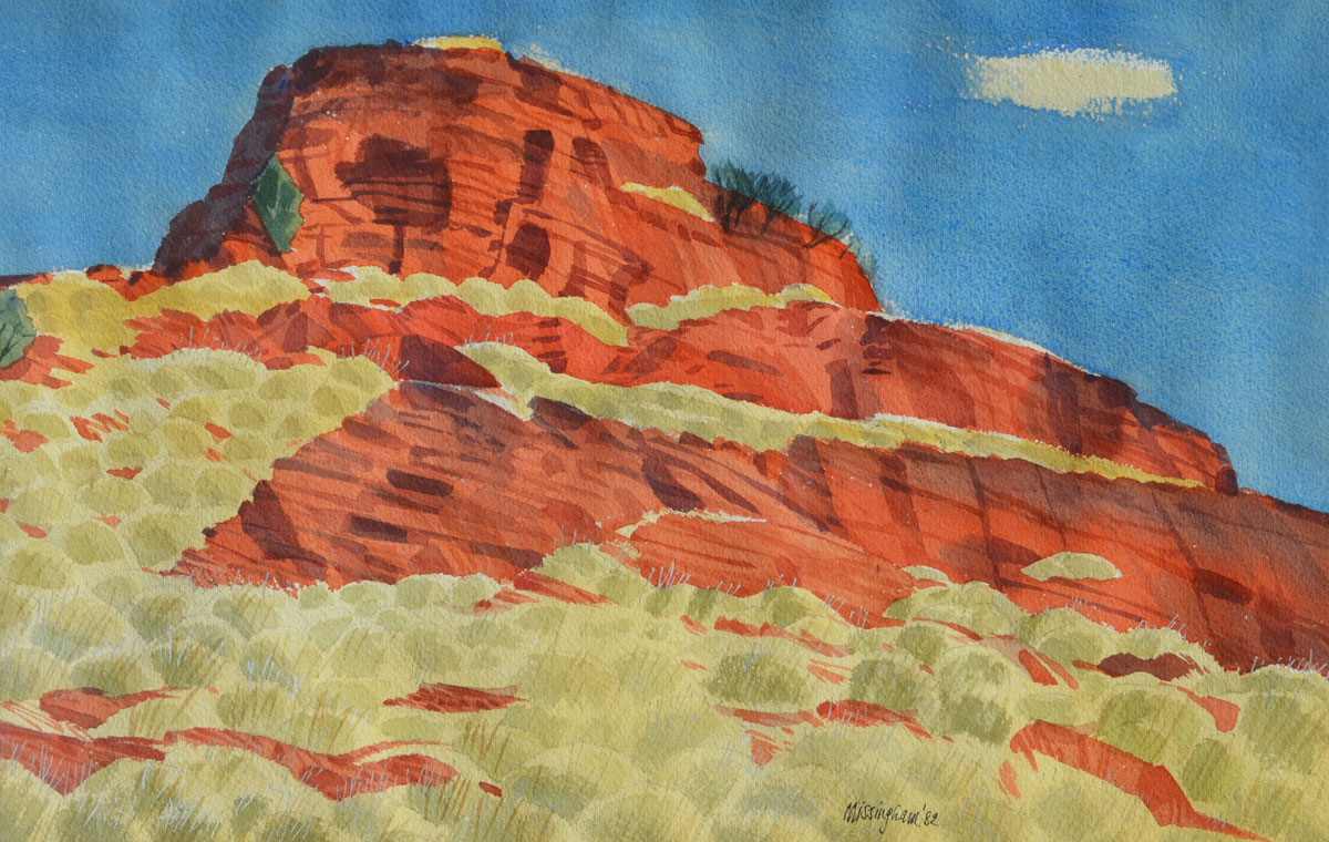 Ejah Rocks 1982, watercolour by Hal Missingham