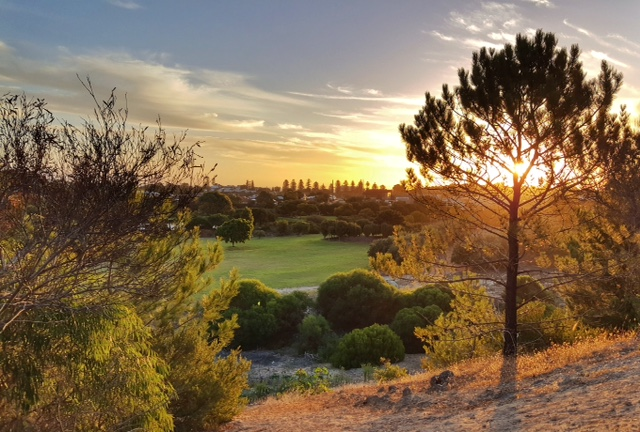 Sunset from the golf course overlooking Boo Park