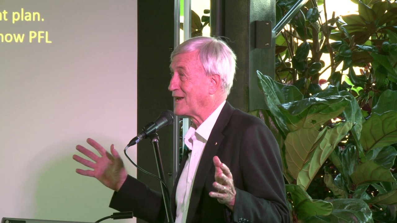 Peter speaking about a sustainable future for Perth.