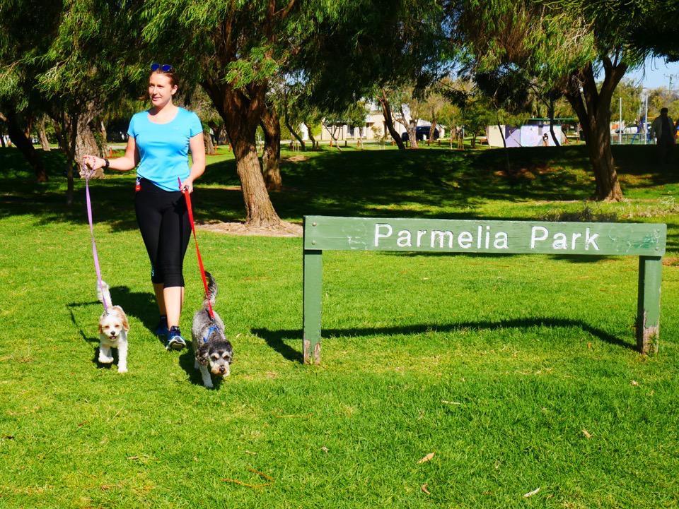 Jenny, Lola and Freddie at Parmelia Park