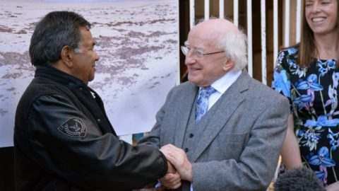 Seen with the President of Ireland