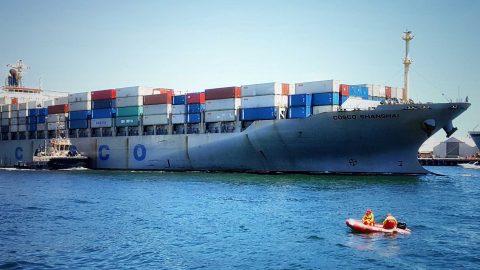 Ship Ahoy!  Cosco Shanghai