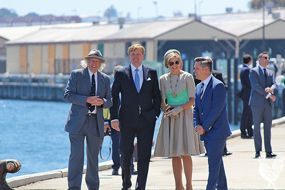 Mike Lefroy with the Dutch Royals and the Fremantle Mayor