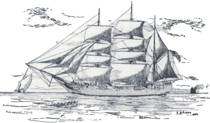 The American whaler 'Catalpa' by E.D. Ashley, 1897