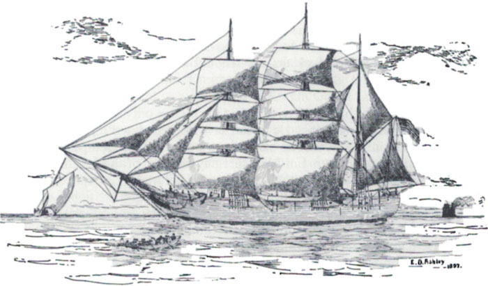 The American whaler 'Catalpa' by E.D. Ashley, 1897