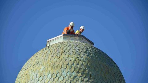 A 'Crowning Glory'  – The Mediterranean Shipping Company's Tower Is Restored