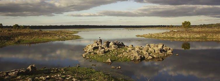 At Budj Bim in western Victoria, Indigenous Australians built extensive fish traps. AAP Image/Budj Bim