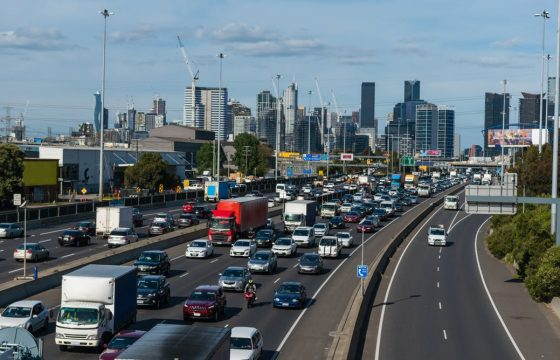 Busy Melbourne Freeway