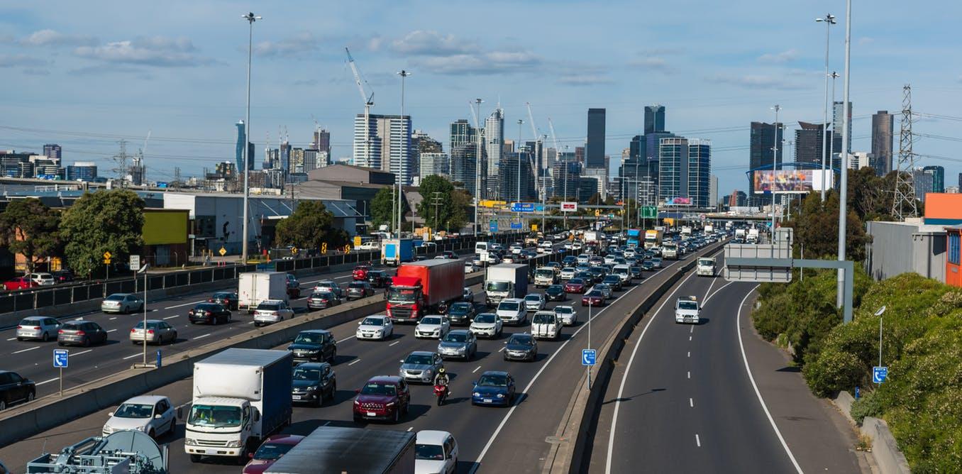 Busy Melbourne Freeway
