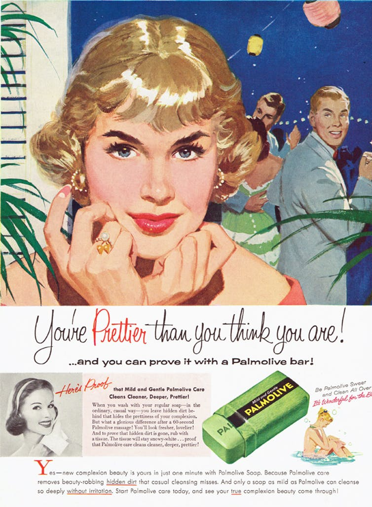 Mid-20th-century advertisements were targeted at women as the primary consumers.