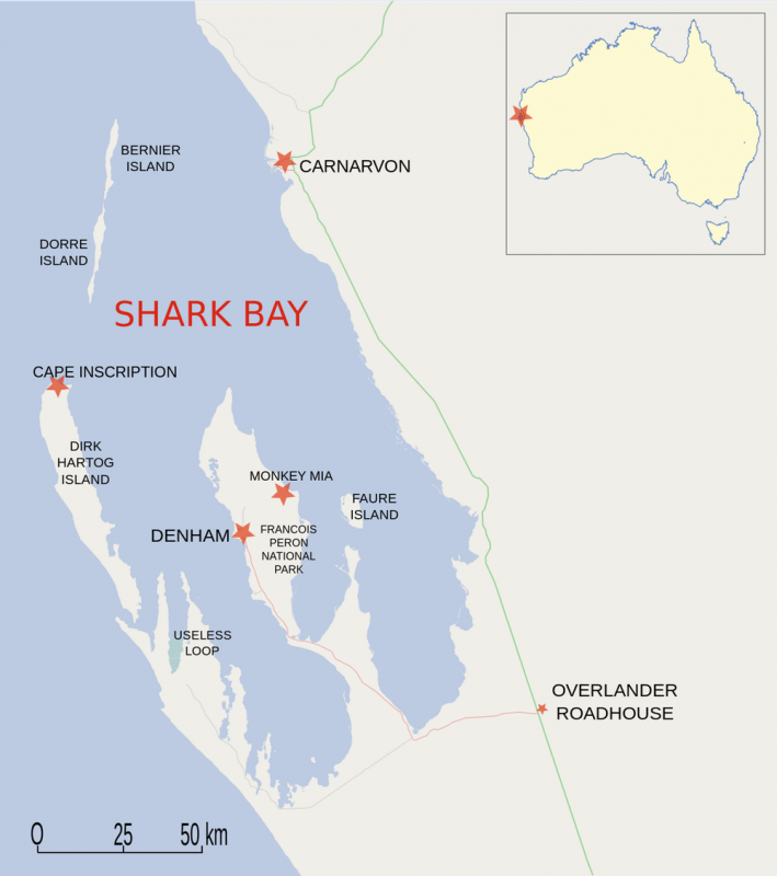 Map of Shark Bay region