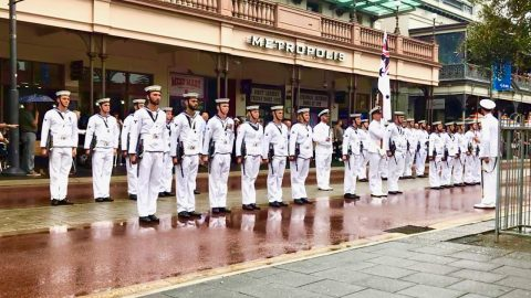 Seen at HMAS Success – Freedom of Entry March