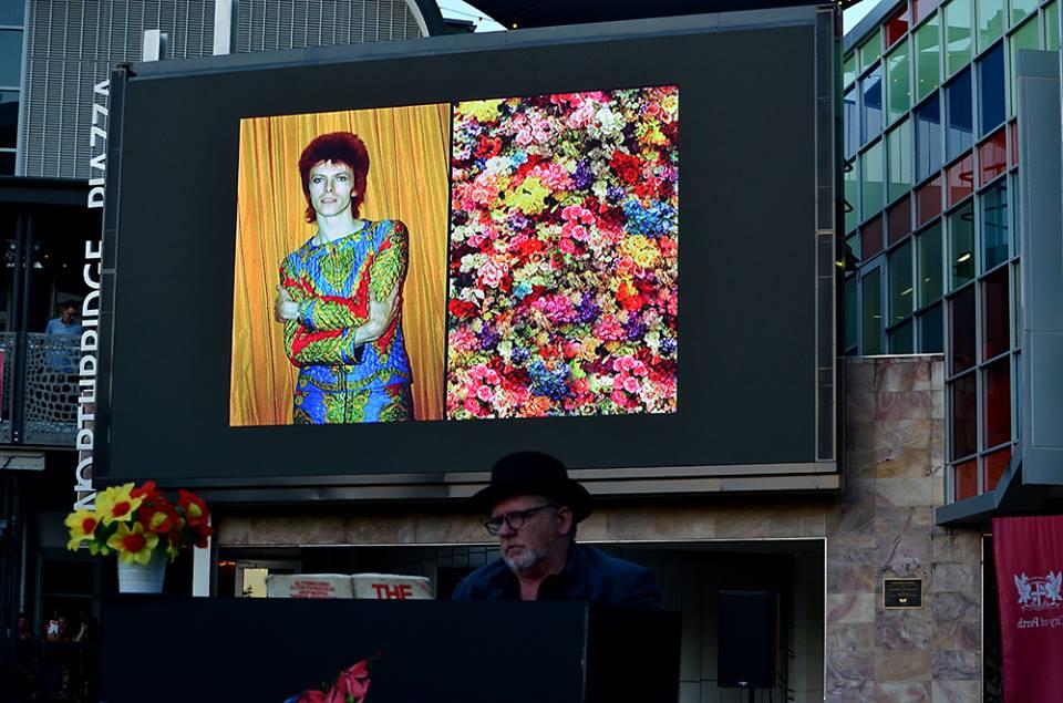 Bowie flowers by Matt Penny
