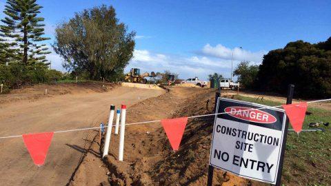 At last – Construction starts on Fremantle Line bike path extension