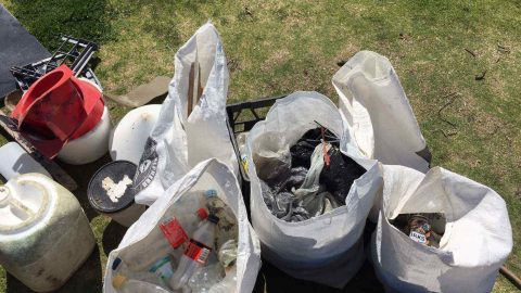 Big Clean Up At Bathers Beach