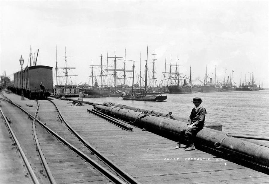 Fremantle port in days gone by - 1894