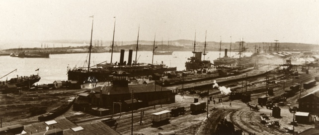 Fremantle port in days gone by