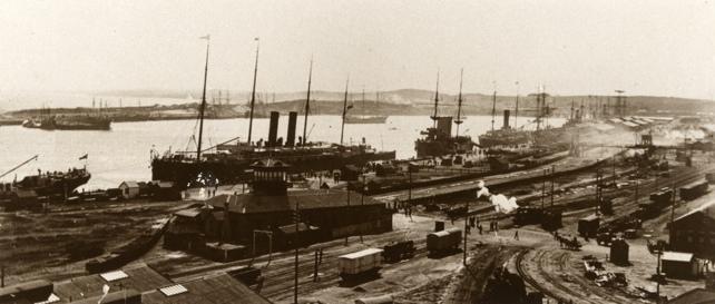 Fremantle port in days gone by