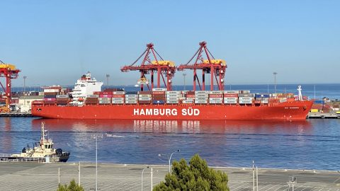 Interesting Red Ship – Rio Madeira