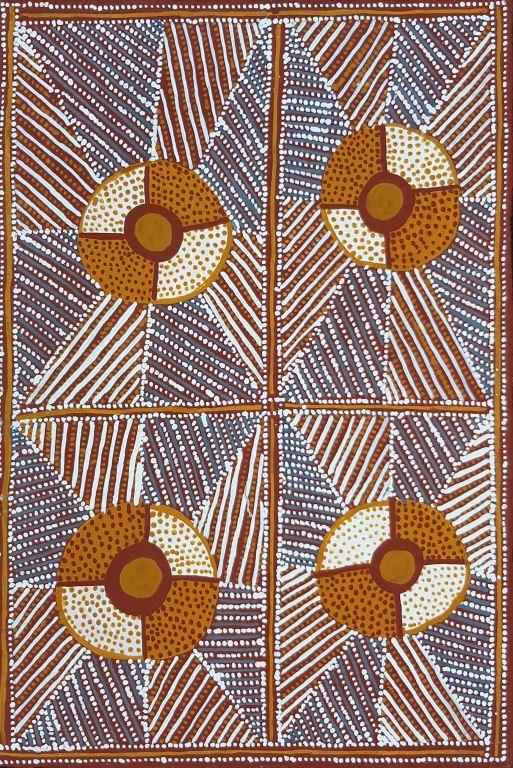 Susan Wanji Wanji 50x30cm Pupuni Jilamara ART204SWW