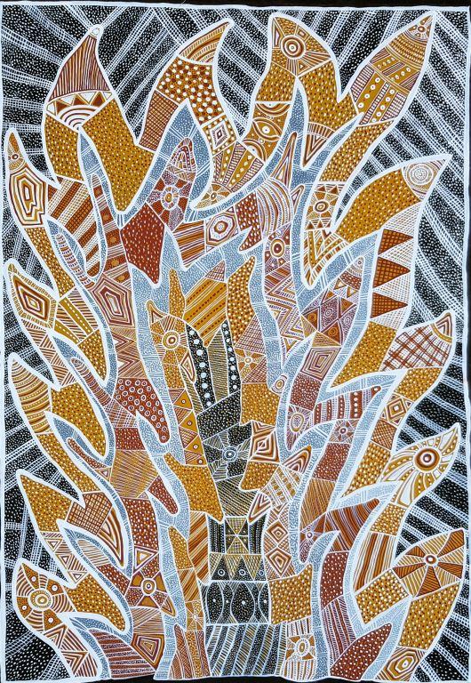 Thecla Bernadette Puruntatameri 180x120cm Yikwani ART20151TBP