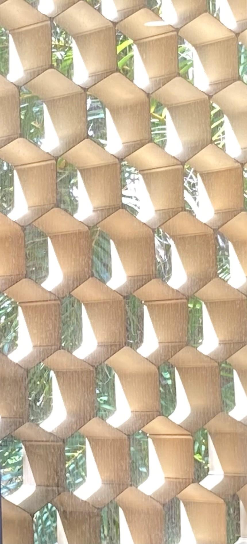 Honeycomb baffles on windows