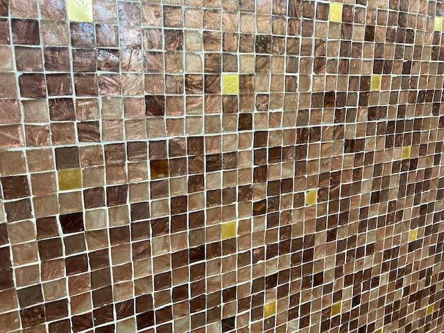 Interior Italian ceramic tiles individually laid