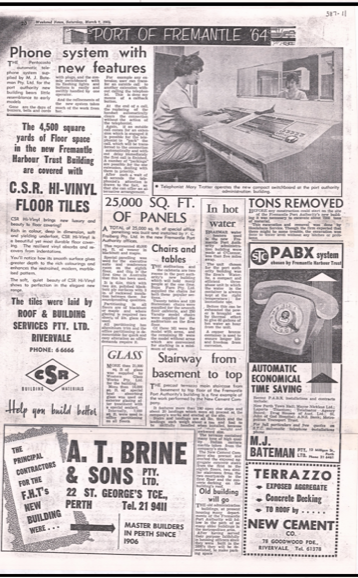 The West Australian spread Courtesy Fremantle Library History Archives