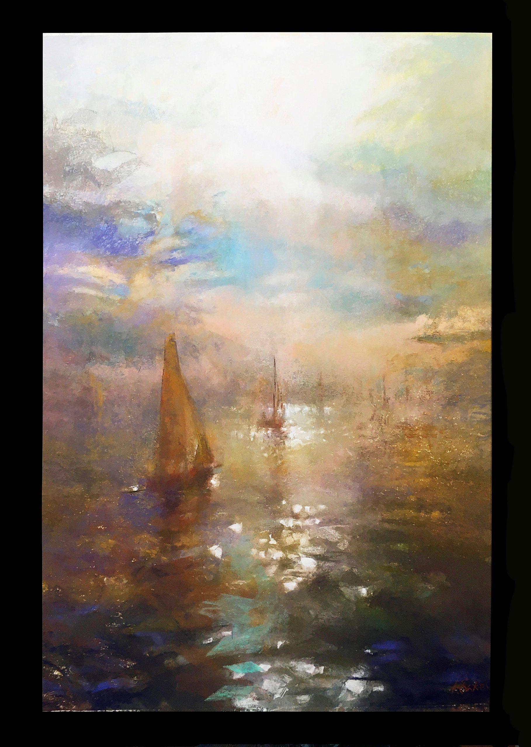 Enshrouded (Crawley), pastel on paper 97x68cm, Greg Baker