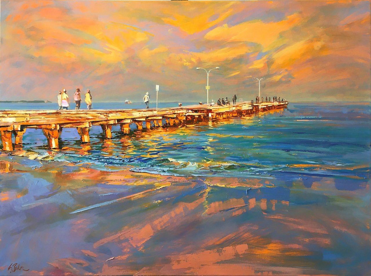 Living in a Lightscape, oil on canvas, Greg Baker 2021