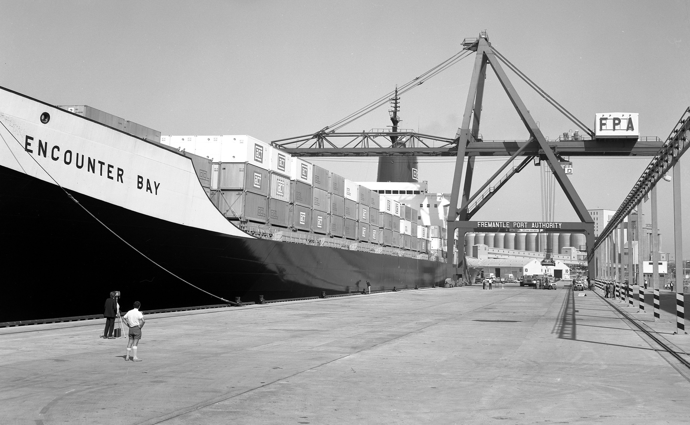 1969 March - Encounter Bay at 12 Berth Container Terminal North Quay