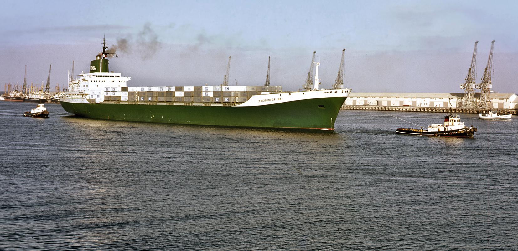 1969 March - Encounter Bay enters port